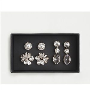 J.crew bold gems earring set